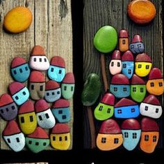 This wonderful idea of handicrafts from natural materials has long been loved by many - crafts made from sea stones brought from the holidays. Stone Crafts, Rock Crafts, Fun Crafts, Crafts For Kids, Arts And Crafts, Pebble Painting, Pebble Art, Stone Painting, Diy Painting
