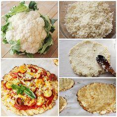 Cauliflower pizza dough, amazing and delicious - Recetas - Veggie Recipes, Keto Recipes, Vegetarian Recipes, Cooking Recipes, Cauliflower Pizza Dough, Dough Pizza, My Favorite Food, Favorite Recipes, Healthy Recepies