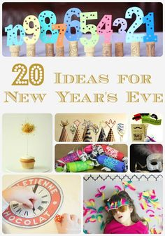 New Years Eve Ideas - 20 fabulous crafts and activities to keep you and the kids bust on New Year's Eve. Brilliant.