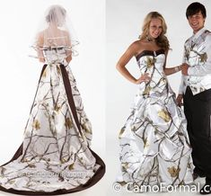 Camo Wedding Dresses/Winterwhite Sweetheart Ball Gowns Bridal Gowns White Snow Realtree Camouflage Wedding Gowns with Detachable Long Train Online with $181.16/Piece on Gardeniavogue's Store | DHgate.com