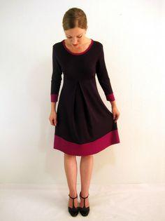 Livia Kleid aubergine-pink 1x Gr. M von Mirastern auf DaWanda.com