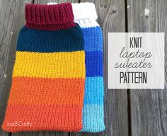 Knit Macbook Air Cover Pattern |Just B Crafty
