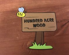 Hundred Acre Wood sign die cut from Winnie the Pooh by scrappinbjs. Explore more products on http://scrappinbjs.etsy.com
