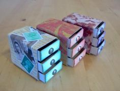 Cute matchbox drawers :)