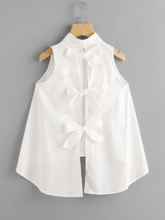 Shop Bow Tie Back High Low Blouse online. SheIn offers Bow Tie Back High Low Blouse & more to fit your fashionable needs.Bow Tie Back High Low Blouse For some who loves cutesy bows etc this is divineTo find out about the [good_name] at SHEIN, part of Dresses Kids Girl, Little Girl Outfits, Kids Outfits, Dressy Outfits, Kids Fashion, Fashion Outfits, Cheap Fashion, Fashion Styles, Fashion Clothes