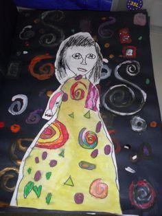 Klimt Kiss inspired artwork