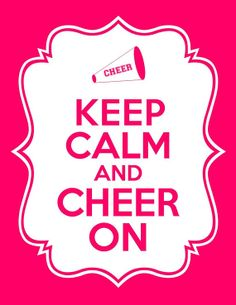 Keep Calm and Cheer On Printables by modernsoiree on Etsy,