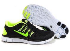 Cheap Nike Free 5.0 Men black green shoes