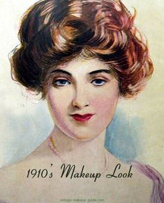 1910 hairstyles Tutorials Edwardian Hair is part of Edwardian Pompadour Hairstyle Tutorial Sew Historically - Vintage Makeup Guide Image Gallery vintage makeup guide Vintage Makeup, Retro Makeup, Victorian Makeup, Edwardian Hairstyles, Vintage Hairstyles, Fashion Through The Decades, Makeup History, Mystery, Makeup Class