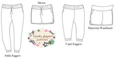 PDF Pattern sized for women XXS-3X, these stylish woven joggers come in shorts, capri, and ankle length. Very in style and comfortable!