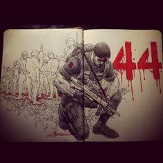 Fallen44 SAF44 Lui Antonio Comic Book Artists, Comic Books, National Issues, Pinoy, Prayers, Survival, Comics, Drawings, Fall