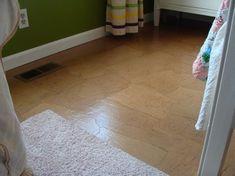 Kraft Paper Floor: A DIY Alternative to Wood Floors {Video Tutorial} - An Oregon Cottage Brown Paper Flooring, Paper Bag Flooring, Wood Plank Flooring, Diy Flooring, Flooring Options, Wood Planks, Cement Floors, Flooring Ideas, Diy Wood Floors
