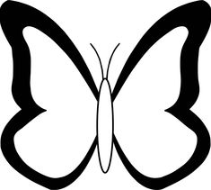 nice Black White Butterfly Coloring Page Insect Coloring Pages, Butterfly Coloring Page, Coloring Book Pages, Butterfly Stencil, Butterfly Art, Butterfly Black And White, Black White, Butterfly Illustration, Coloring Sheets For Kids
