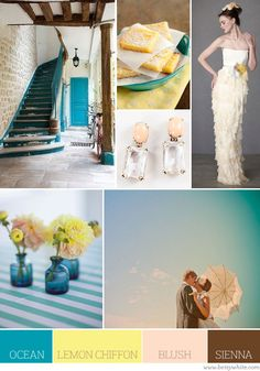 ocean, lemon chiffon, blush, sienna (i just love all the photos in this board too)
