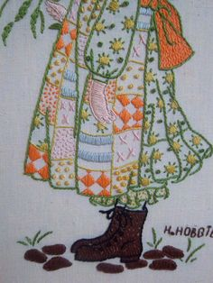 Vintage Holly Hobbie Embroidery by mousefacevintage on Etsy, $22.00