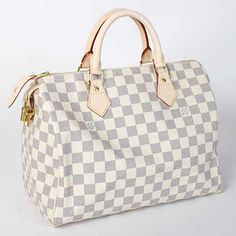 Did someone say Louis Vuitton Damier Azur Speedy?  Yes please!