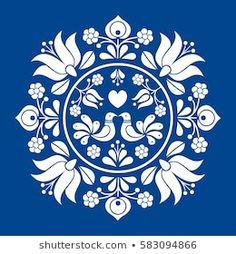 Hungarian Embroidery, Folk Embroidery, Learn Embroidery, Embroidery Patterns, Indian Embroidery, Embroidery Stitches, Folk Art Flowers, Flower Art, Bordado Popular