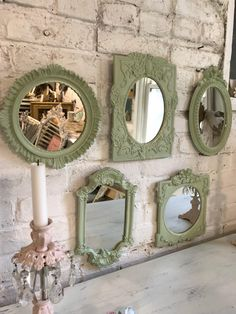 Painted Cottage Prairie Shabby Chic Fancy French Mirror Collection by paintedcottageprairi on Etsy