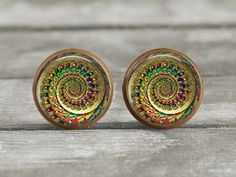 Earrings  Jewelry  12mm Abstract 12  Post or Leverback