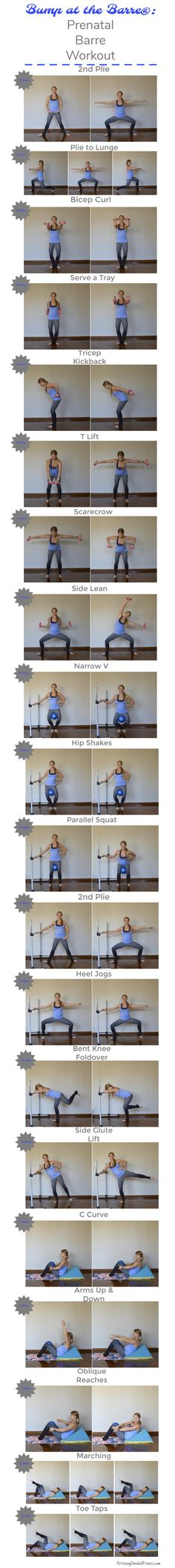 Prenatal Barre Workout: Bump at the Barre® ~ Brittany Bendall Fitness