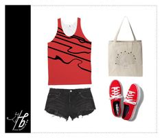"""Red Love"" by bgmmstore ❤ liked on Polyvore"
