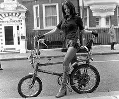 Model on a Raleigh Chopper