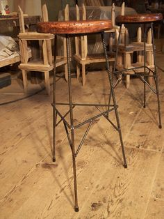 Extra Tall Reclaimed Wood Bar Stools with by BarnWoodFurniture, $145.00