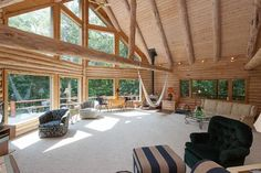 love the windows and treehouse feel
