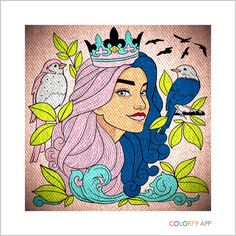 Made this beautiful peace of artwork on Colorfy it's so pretty you can change the bright ness and adjust anything you want on your work