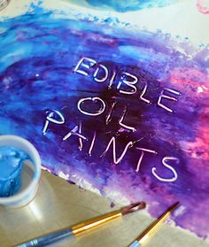 How to make edible and beautiful paints for use in cake decorating!