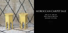 MOROCCAN CARPET SALE, JANUARY 11 – 31, 2016