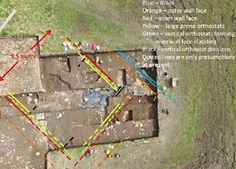 Aerial photo of archeological dig at Ness of Brodgar on Orkney - marked.