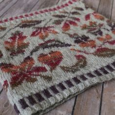Even in the depths of winter, there are pretty red-brown leaves to be crunched underfoot. This cosy cowl reproduces some of the loveliest leaves that I found on a walk one day… Leaf Knitting Pattern, Double Knitting Patterns, Cowl Patterns, Stitch Patterns, Fair Isle Knitting, Free Knitting, Sock Knitting, Motif Fair Isle, Fair Isles