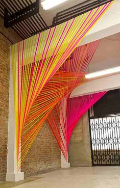 Contemporary art installation - reminds me of my final year degree show presentation ☆