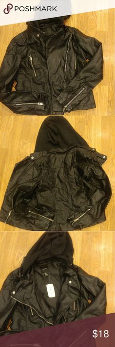Forever 21 leather jacket, new with tags. Size med Forever 21 leather jacket,New with tags. Size medium Jackets & Coats