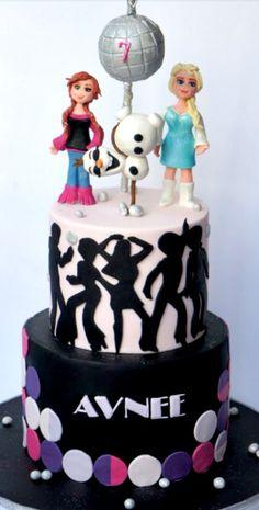 Frozen Disco Party Cake