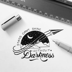 Stars can't shine without darkness by https://www.instagram.com/Designspiration/