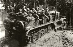 A SdKfz 7 halftrack loaded up and showing it's versitility