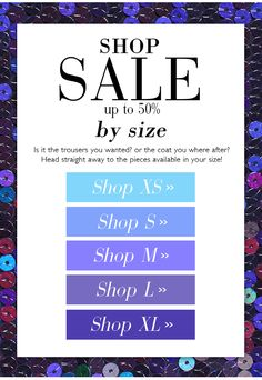 BSB Fashion Newsletter W16 - Shop SALE up to 50% by size