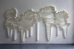 Artwork made from rolls of toilet paper! Trans Layers 2010 Wall Installation by Sakir Gokcebag. Toilet Paper Art, Paper Installation, Art Installations, Everyday Objects, Fiber Art, Contemporary Art, Illustration Art, Illustrations, Free