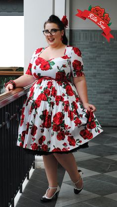 03a441b274f Red Rose Printed Spring Dress by Cry Cry Cry