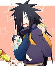 madara taking care of babies lol