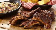 Grilled Sweet and Smoky Baby Back Ribs: Grill Mates® Sweet & Smoky Rub, a spicy blend of chipotle peppers, cinnamon, garlic and onion gives baby back ribs finger licking good flavor. Tailgating Recipes, Grilling Recipes, Cooking Recipes, Grilling Ideas, Outdoor Grilling, Smoker Recipes, Barbecue Recipes, Outdoor Entertaining, Ribs On Grill