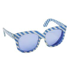 2affa64a9ee 1970s Emmanuelle Khanh Blue Striped Sunglasses