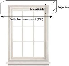 Window valance box measurements - For the bedroom/bathroom Window Valance Box, Curtain Box, Window Coverings, Curtain Ideas, Window Treatments Living Room, Living Room Windows, Valences For Windows, Diy Furniture Restoration, Blinds Online