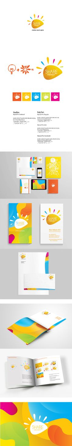 Share Education by Bina Nurrifri, via Behance