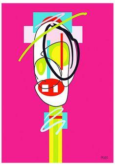 Peet Win Won by Sam Freek - Contemporary art prints for the modern home - #art #artprint #abstractart #portrait