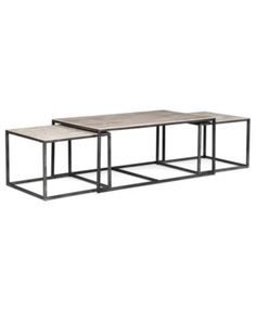 Monterey Coffee Table, Rectangular Nesting