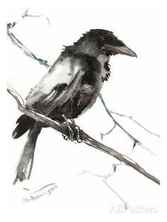 Raven 5 Print by Suren Nersisyan at AllPosters.com