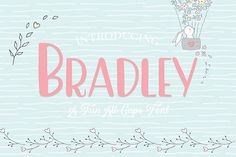 Bradley is a fun all caps font. Besides standard software such as Illustrator & Photoshop, this font works with any type of software including Cricut Design All Caps Font, Geometric Font, Otf Font, Beautiful Fonts, Pretty Fonts, Vintage Fonts, Free Fonts Download, Sans Serif, Serif Font